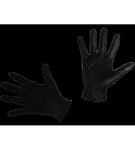 12017Перчатки нитриловые п/п Extra L BLACK FOX