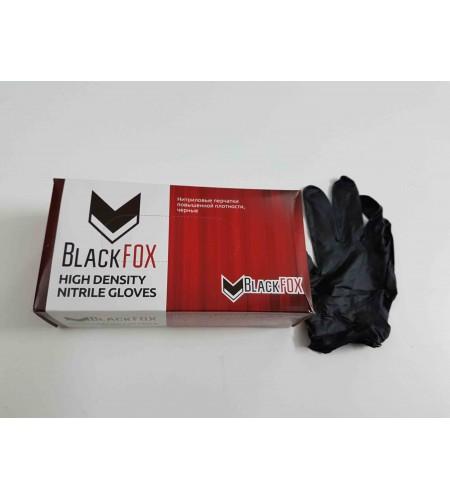 12101Перчатки нитриловые черные classic М BLACK FOX