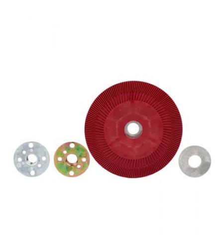 64862 Оправка для фибровых кругов 180мм х 22мм ребристая M14