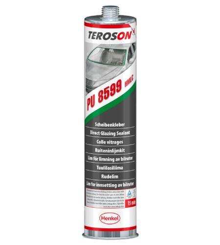 Клей для вклейки стекол TEROSON® PU 8599 полиуретановый с 15-минутным временем готовности,  310 мл.  Перед применением его необходимо нагреть.