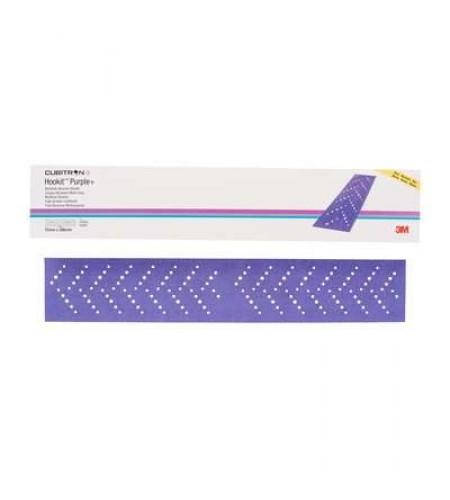 51418  Абразивные полоски Hookit Purple+  3M 737U 70x396мм, Р320+