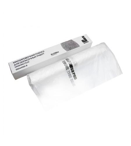 55046100/11 Маскировочная пленка, белый прозрачный полиэтилен  11 мкр, 6м х 100м JetaPro