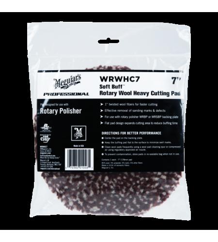 WRWHC7 Полировальник шерстяной режущий (бордовый) для ротационной машинки, 178мм 1/6