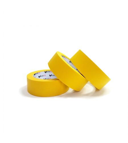 12925 Малярная лента 24мм х 40м BLACK FOX EXTRA 110гр. Ярко-желтый /36 шт.