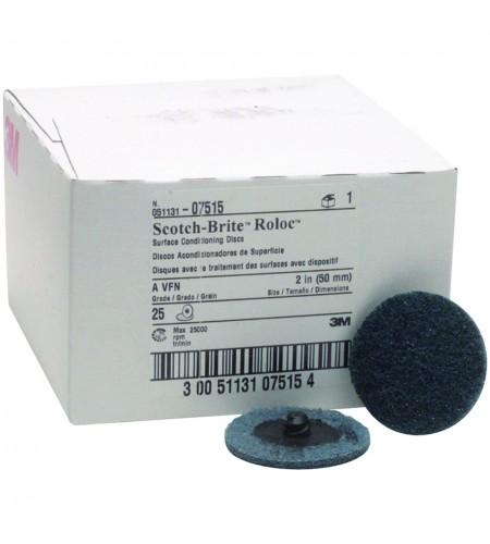 07515 Зачистной круг Scotch-Brite™ Roloc D50мм,  синий