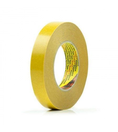 9527 Лента клейк. двустор., основа - нетканая материя, адгезив - каучук., цвет - полупрозрачный 18мм X 50м