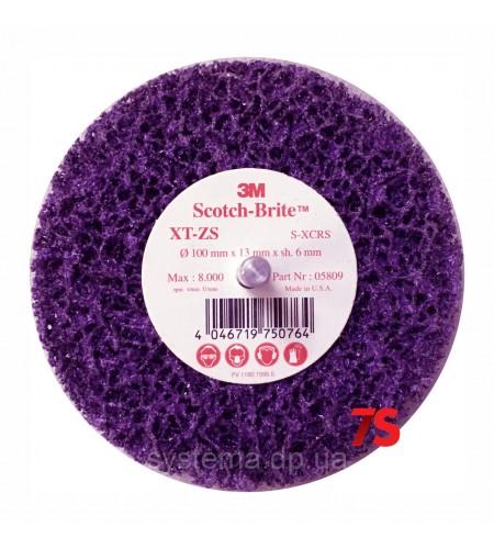 05809 Зачистной круг Clean'N'Strip со шпинделем пурпурный, 100ммх13ммx6мм