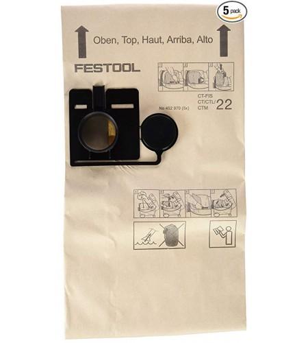 452970 Фильтр-мешок FIS-CT 22 (1 уп. = 5 шт.)
