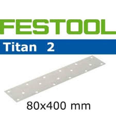 493617 Листы шлифовальные с п/о 80х400 Titan II зерно Р 320,  для LRS400 1 упаковка = 50 листов