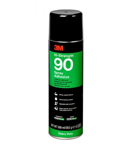 90 Клей-спрей эластомерный однокомпонентный белый 500мл