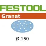 496990 Мат.шлиф. Granat P 1000, компл. из 50 шт. STF D150/16 P 1000 GR 50X