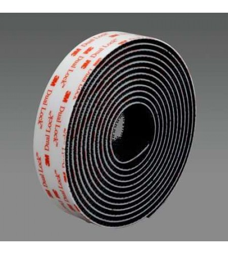 SJ3550 Застежка дуалок, адгезив - VHB, цвет - черный 25 ММ Х 45,7 МХ6мм