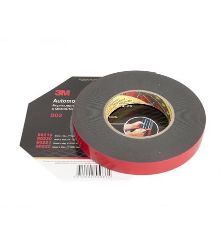 80222 Акриловая двухсторонняя лента 3М 15мм х 10м 1,1мм, черная