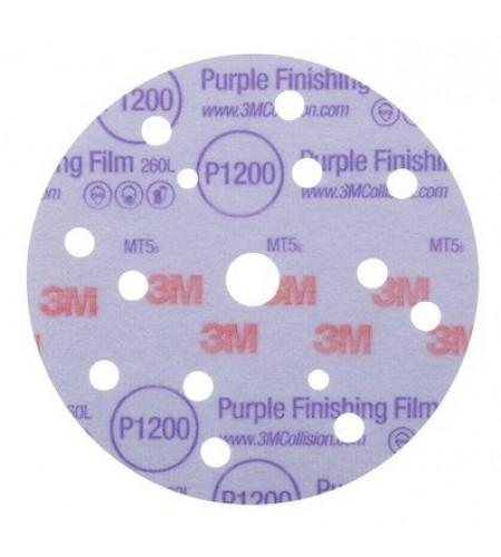 51157 Круг 260L Purple абразивный, полировал., 15 отверст., Р1000, 150мм