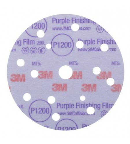 51155 Круг 260L Purple абразивный, полировал., 15 отверст., Р800, 150мм