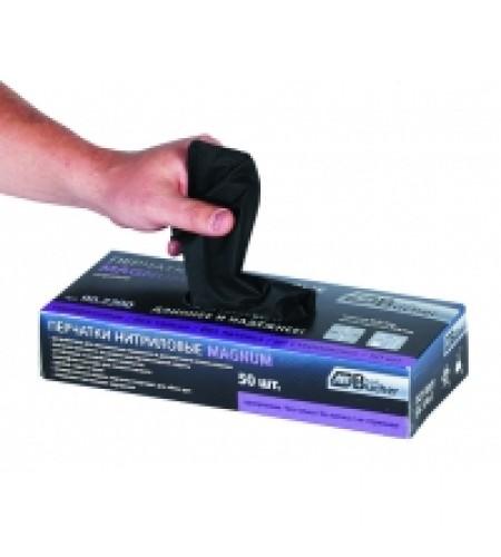 90.2200.9 Перчатки нитриловые черные Магнум  L 0,21 мм БЕЗ ТАЛЬКА