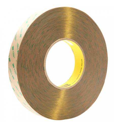 F9473PС Лента монтажная двусторонн., безосновная, адгезив - VHB, цвет - прозрачный  9мм Х 54,9 м Х 0,25мм