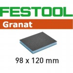 201114 Губка.шлиф. Granat 220, компл. из 6 шт.  98x120x13