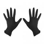 67600006 Перчатки 4CR  нитриловые черные ХL