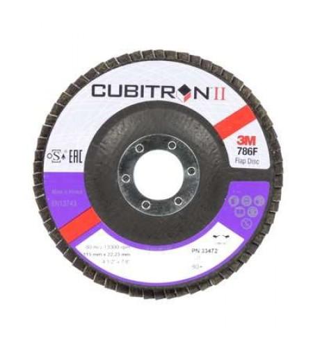 33472 Лепестковый круг, Cubitron™ II T29, 115 мм x 22 мм, 80+