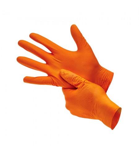 JSN509 Перчатки  нитриловые JETAPRO оранжевые, размер  L (100шт)