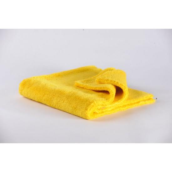 12.0888Y Полировальная салфетка из микрофибры разноворсовая (без обметки краев), 400 г/м, желтая, 40х40см
