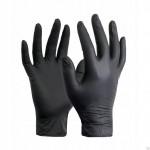 Перчатки  нитриловые текстурированные, неопудренные, Черные  L /50 пар