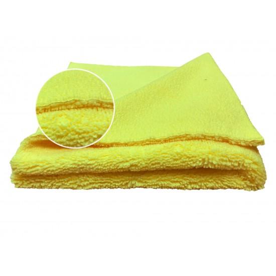 12.0999Y Полировальная салфетка из микрофибры (без обметки), 550 г/м2, желтая 40х40 см