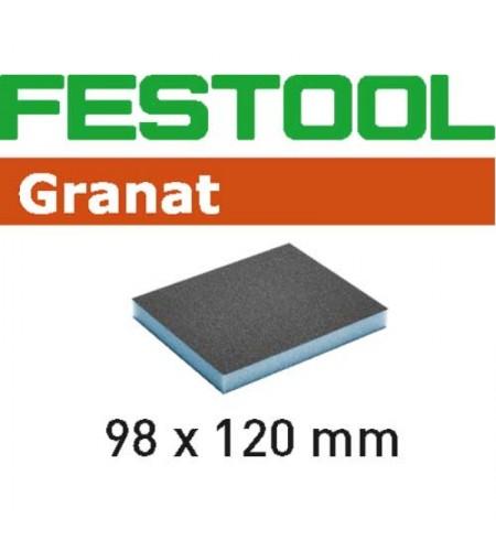 201113 Губка.шлиф. Granat 120, компл. из 6 шт.  98x120x13