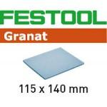 201099 Губка.шлиф. Granat 500, компл. из 20 шт.  115x140x5 EF 500 GR/20