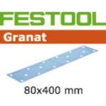 497159 Листы шлифовальные 80х400  Granat зерно Р  80