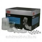 16026 Набор (стаканы-0,6л.-50, крышки с фильтром 125мкм - 50, колпачки -25)