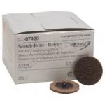 07480 Зачистной круг  Scotch-Brite™ Roloc D 50мм  (коричневый, грубый)